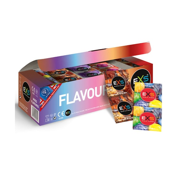 exs mixed flavours clinic pack 144